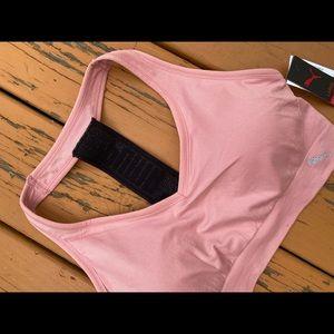 New puma padded pink sports bra size large